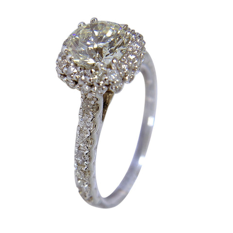 14 WHITE GOLD - ROUND DIAMOND RING - 2.27 CT