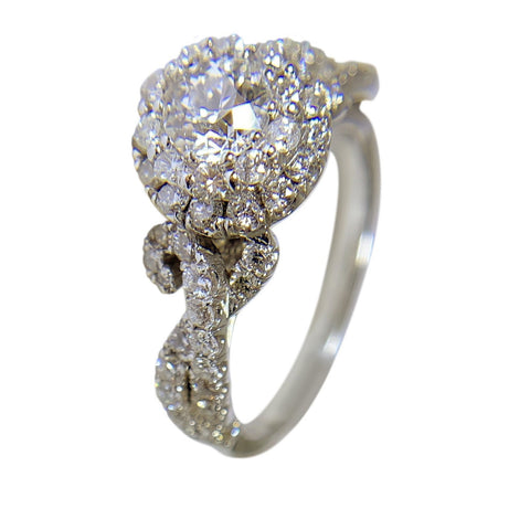 14 KT WHITE GOLD - DIAMOND ANIVERSARY RING - 1.74 CT