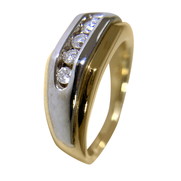 14 KT TT GOLD - 5 STONES WEDDING BAND - 0.38 CT