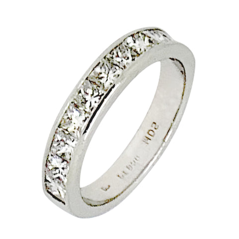 PLATINUM PRINCESS DIAMOND WEDDING BAND - 1.50 CT