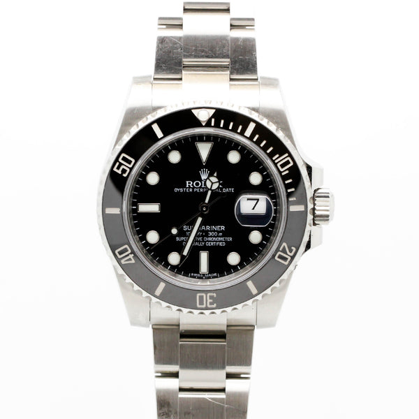 Rolex Submariner Stainless Steel and Black Dial 40mm Men`s Watch