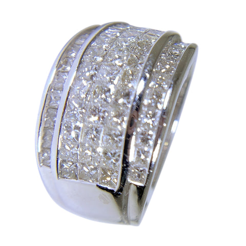 14 KT WHITE GOLD DIAMOND WOMENS RING - 1.75 CT