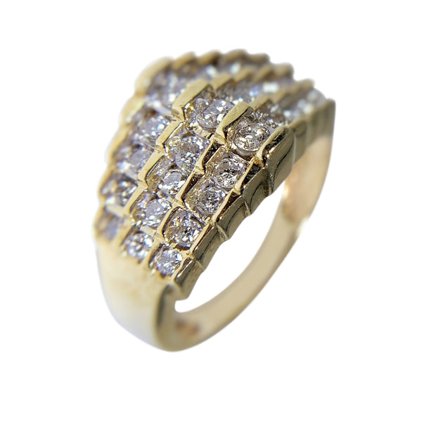 10 KT YELLOW GOLD WITH ROUND DIAMONDS - 1.08 CT