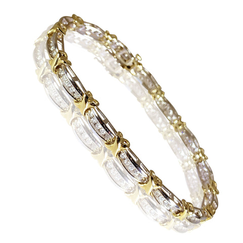 10K TT Gold Charming Design with Diamonds 1.50 ct