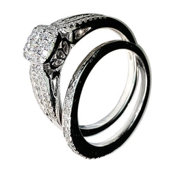WHITE GOLD DIAMONDS BRIDAL RING Set- 0.50 CT