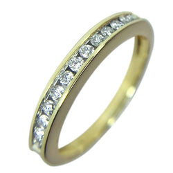 14 KT YELLOW GOLD ROUND DIAMOND WEDDING BAND - 0.35 CT