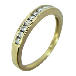 10 KT YELLOW GOLD ROUND DIAMOND WEDDING BAND - 0.25 CT