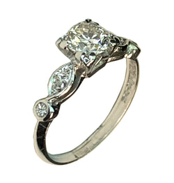 PLATINUM BEAUTIFUL DIAMOND ENGAGEMENT RING - 0.67 CT