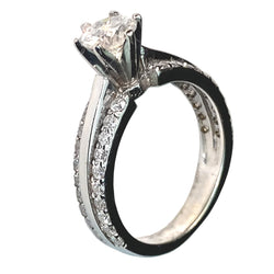14 KT WHITE GOLD WONDERFUL DIAMOND ENGAGEMENT RING - 1.44 CT