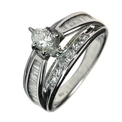 14 WHITE GOLD DIAMOND RING SET - 1.50 CT