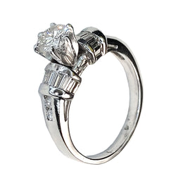 PLATINUM DIAMONDS ENGAGEMENT RING - 1.12 CT