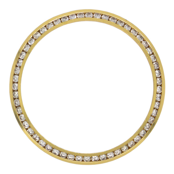 14K Yellow Gold Watches Bezel with Diamonds 1.50 Ct 36 mm