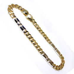 "14K Yellow Gold Fancy Style Men Bracelet 8.5""  5mm"