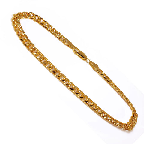 10K Yellow Gold Men's Miami Cuban Bracelet 8″ Inches 4.5mm