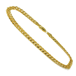 "10K Yellow Gold Cuban Link Men Bracelet 9"" 9.5mm"