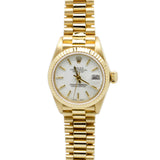 Rolex DateJust President 69178 18K Yellow Gold 26mm Womens Watch White Dial