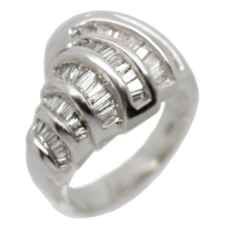 14K White Gold Women Diamond Anniversary Fashion Band Ring 1.22 Ctw