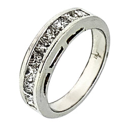PLATINUM PRINCESS DIAMOND WEDDING BAND - 1.85 CT