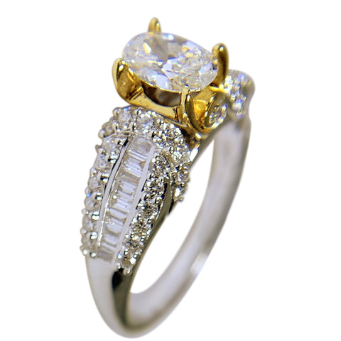 18 KT TT GOLD - WOMENS RING - 1.50 CT