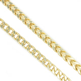 10K Yellow Gold 2.2 mm Franco Chain Necklace 26 Inches Diamond Cut