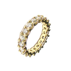 14 KT GOLD ETERNITY WEDDING BAND -3.63 CT