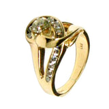 14 KT GOLD DIAMOND WOMENS COCKTAIL RING - 1.47 CT