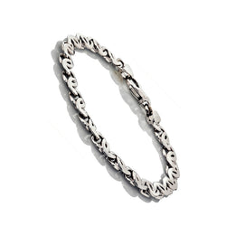 14K White Gold Mens Fancy Gucci Style Bracelets 8.5″ Inches