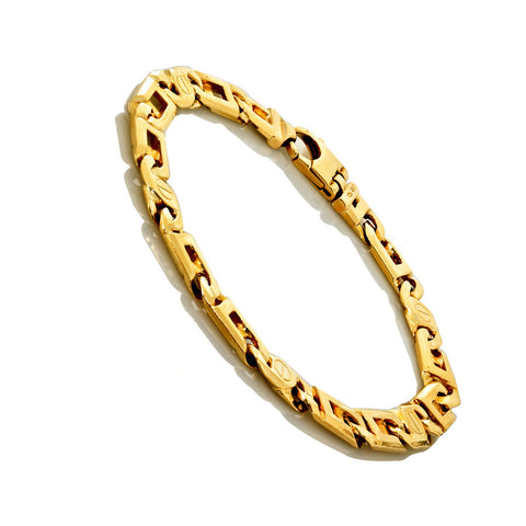 14K Yellow Gold Mens Fancy Bracelet 8.5″ Inches