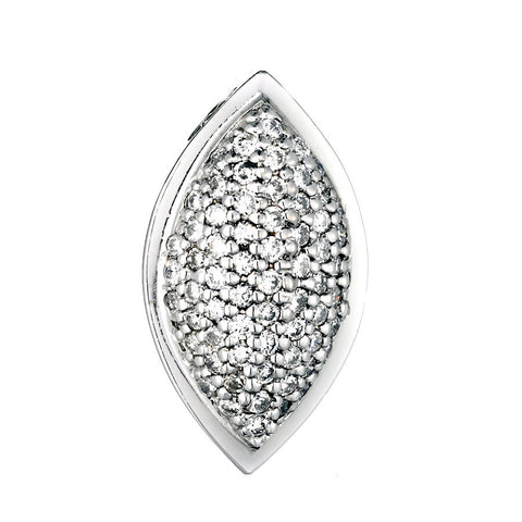 14K White Gold Womens Diamond Pendant 1.00 Ctw