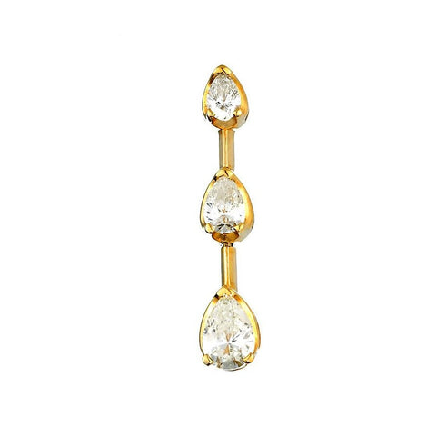 14K Yellow Gold Womens Diamond Past Present Future Pendant 1.26 Ctw