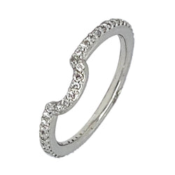 14 KT WHITE GOLD ROUND DIAMOND WEDDING BAND - 1.00 CT