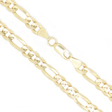 14K Yellow Gold 6.0 mm Figaro Chain Necklace 22 Inches