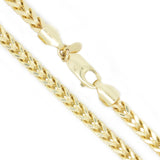 10K Yellow Gold 3.0 mm Franco Chain Necklace 24 Inches Diamond Cut