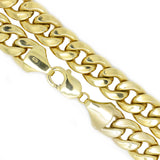 10K Yellow Gold 7.5mm Miami Cuban Chain Necklace 25.5 Inches