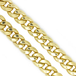 10K Yellow Gold 9.8mm Miami Cuban Chain Necklace 27 Inches