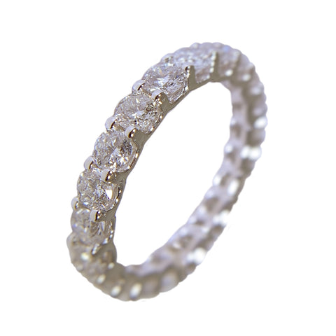 14 KT WHITE GOLD DIAMOND WEDDING BAND - 3.75 CT