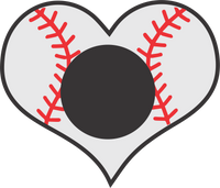 Baseball Heart Monogram