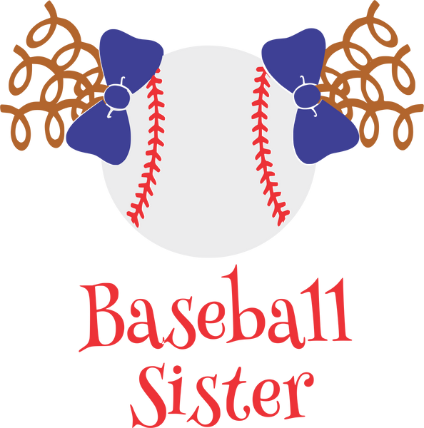 Baseball Sister with curls