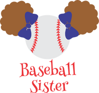 Baseball Sister with puffs