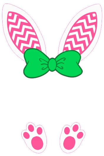 Bunny ears monogram- Chevron