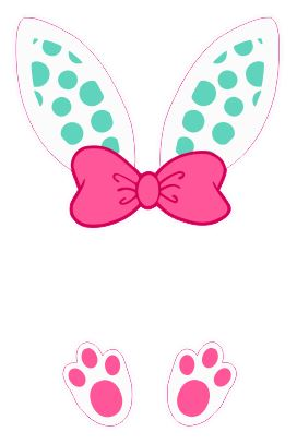 Bunny Ears Monogram- Dots