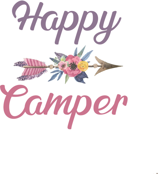 Happy Camper- Arrow, Feathers, Flowers