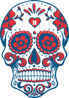 Houston Football Sugar Skull