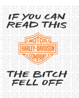 If you can read this- the bitch fell off