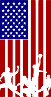 Baseball Player USA Flag