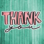 Thank you- Die Cut Sticker