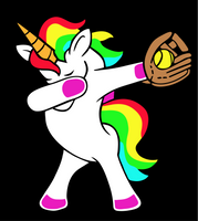 Dabbing Unicorn- Baseball/ Softball