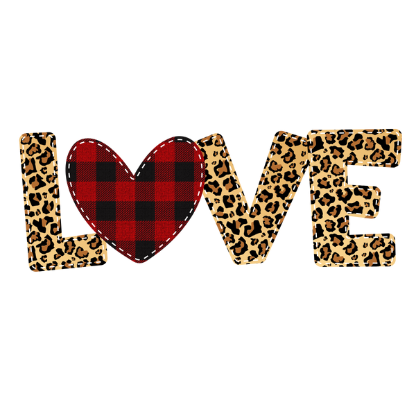 Love- Cheetah & Buffalo Plaid