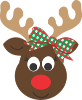 Reindeer Head with Bow