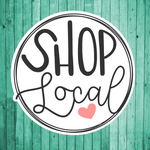 Shop Local- Die Cut Sticker